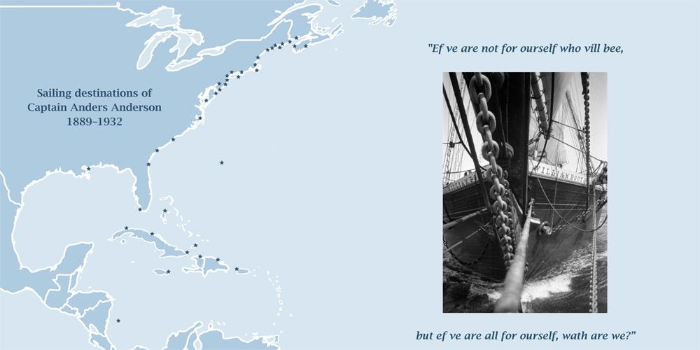 Sailing destinations graphic